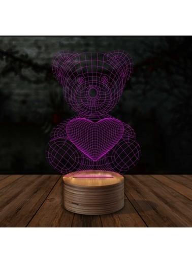 Artikel Teddy Bear 3D LED Gece Lambası Renkli